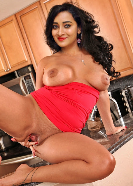 Bhanu Sri spreading her pussy lip topless sexy boobs