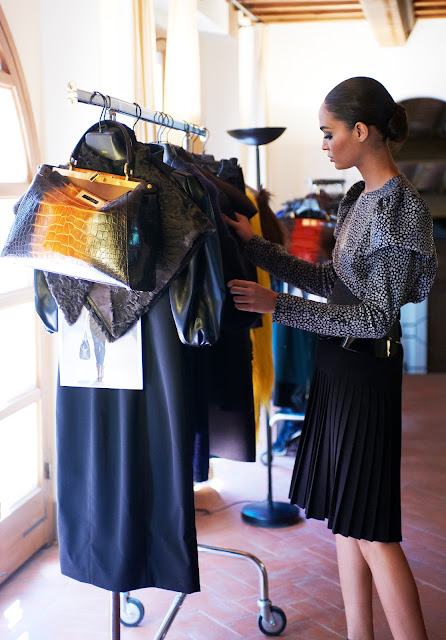 Joan Smalls Behind-the-scenes of Fendi's Fall/Winter 2012-13 Lensed by Karl Lagerfeld