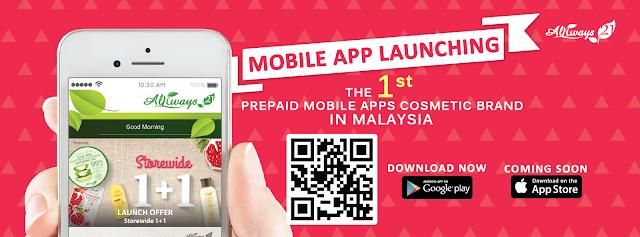 Always 21 Korean skincare brands mobile apps