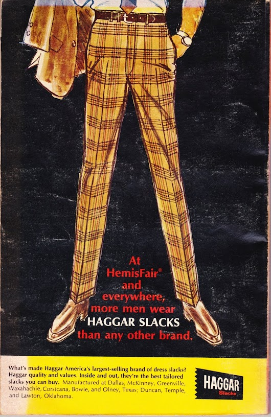 50-year-old advertisement for Haggar slacks