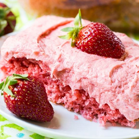 Strawberry Texas Sheet Cake