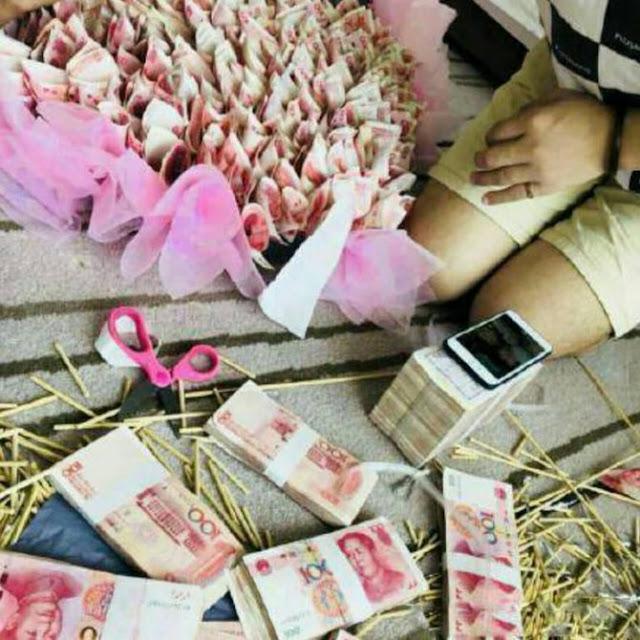 Di China, Pria Beri Hadiah Bucket Uang Rp 736juta Untuk Kekasihnya Malah Ditangkap Polisi