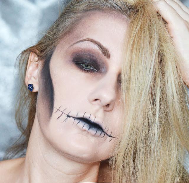 makeup Halloween, Простой макияж на Хеллоуин, макияж дома, сам себе визажист, учу визажу