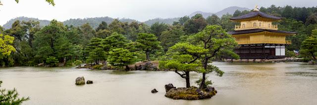 Panorámica del Kinkaku-ji en el Kyōko-chi :: Panorámica 7 x Canon EOS5D MkIII | ISO400 | Canon 24-105@55mm | f/5.6 | 1/80s