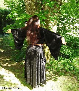 costume fantasy panne de velours