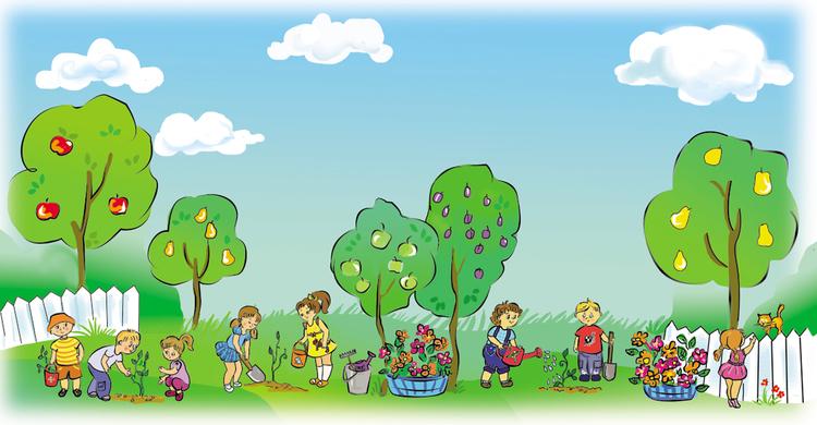 Картинки по запросу картинка сад фрукты