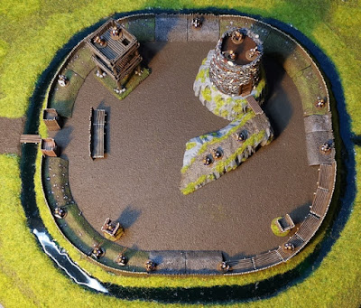 Campaign updated with pictures of the work that the dwarfs did to make their living a bit more secure.