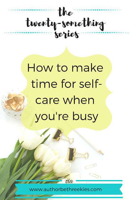 Self-care is important, especially when you're juggling a lot of things. But how do you 'make time' for it when you're that busy? In this post, I share my tips.