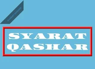 Syarat Qashar