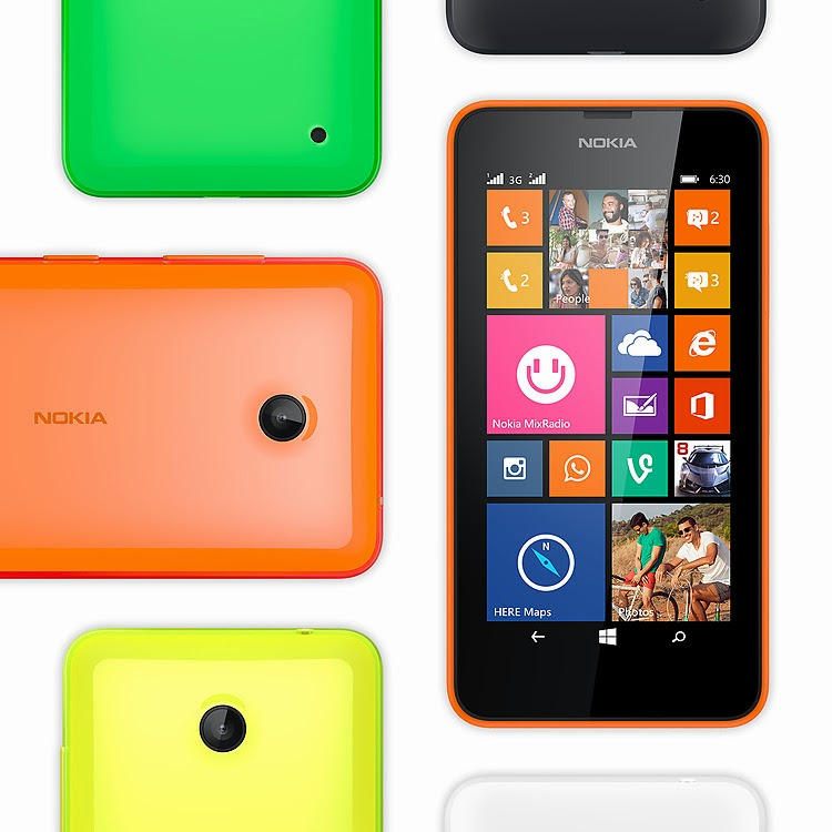 Aneka warna pilihan Lumia 630 dual SIM
