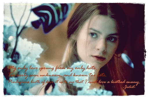 Quote to Remember: ROMEO + JULIET [1996]