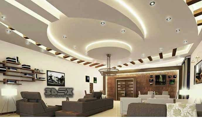Lovely Latest False Ceiling Designs For Hall Modern POP Design For Living Room 2018