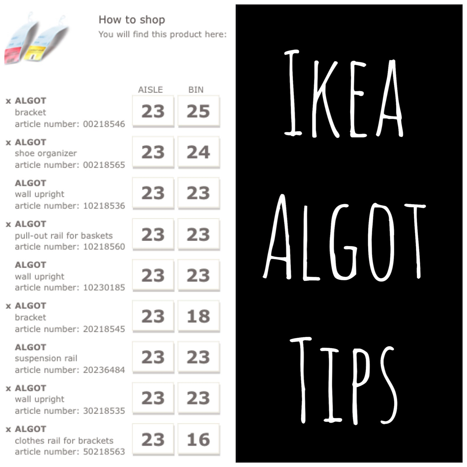 garage ideas ikea - projects Algot shelving install & tips Create Bake
