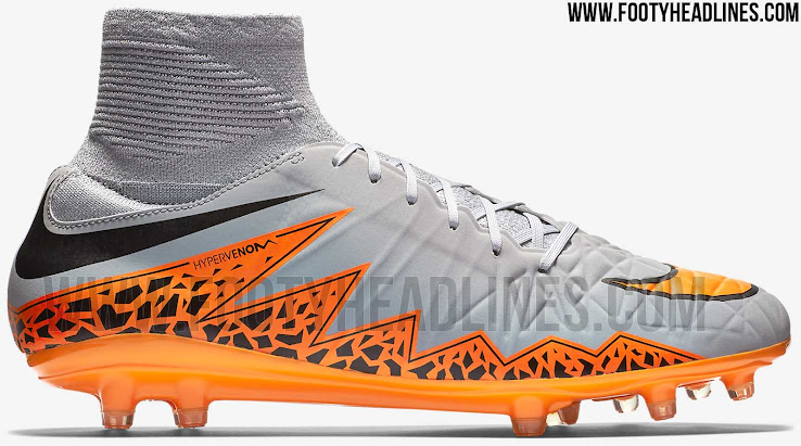 e73ee1b2e Nike Hypervenom Phatal 2 DF - Wolf Grey / Orange / Black. This is the new Nike  Hypervenom Phatal II Dynamic Fit collar Boot.