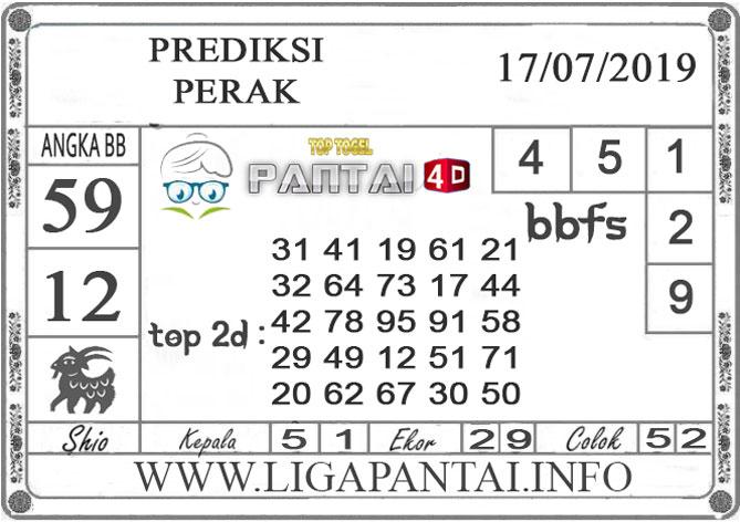 """PREDIKSI TOGEL """"PERAK"""" PANTAI4D 17 JULI 2019"""