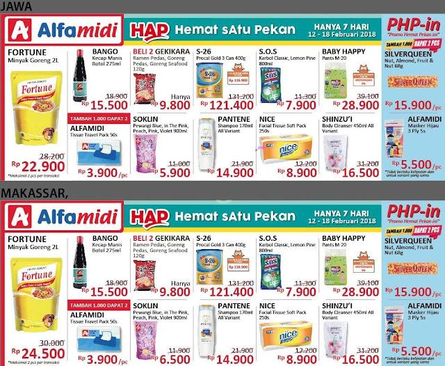 Katalog Promo ALFAMIDI Hemat Satu Pekan Periode 12 - 18 Februari 2018
