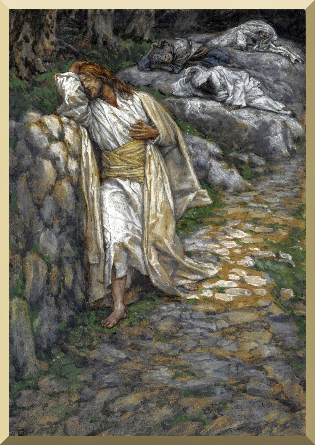 """My Soul is Sorrowful unto Death "" -- by James Tissot"