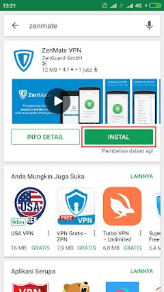 Cara Mendapatkan Zenmate Premium Melalui Android