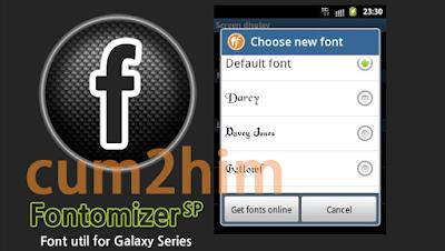 Fontomizer Aplikasi Pengganti Font Samsung Galaxy Tanpa Root