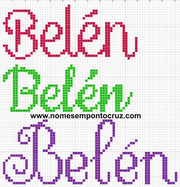 Nome Bélen em Ponto Cruz