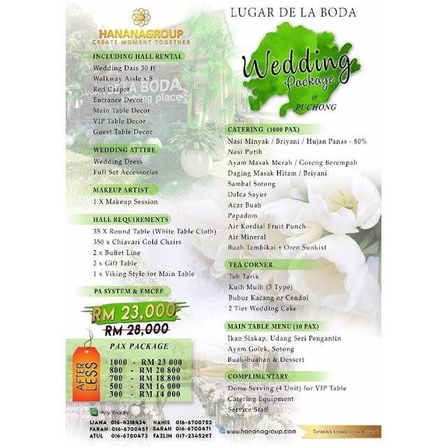 Pakej Perkahwinan Lugar De La Boda Puchong