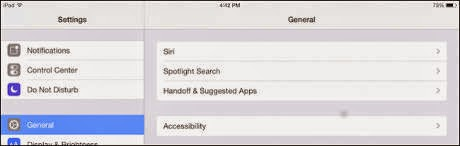 Spotlight on iPad