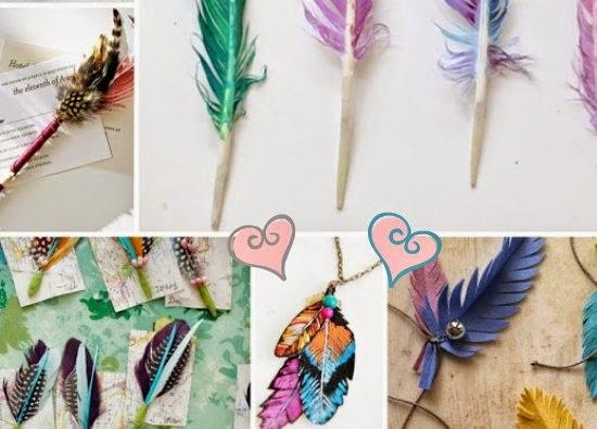 plumas, diys, manualidades, feathers
