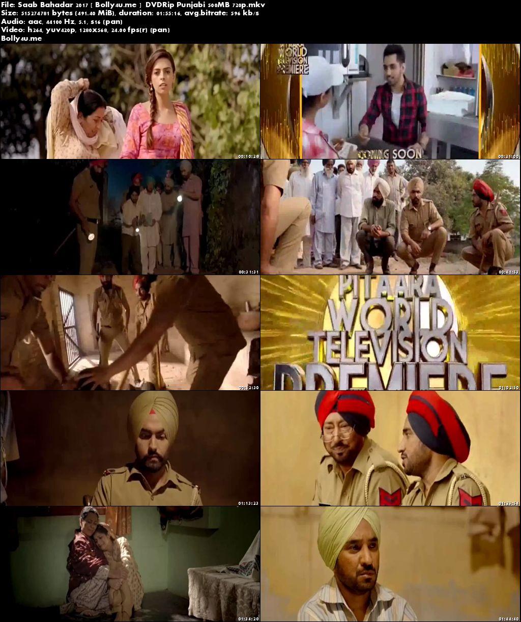 Saab Bahadar 2017 DVDRip 350MB Full Punjabi Movie Download 480p