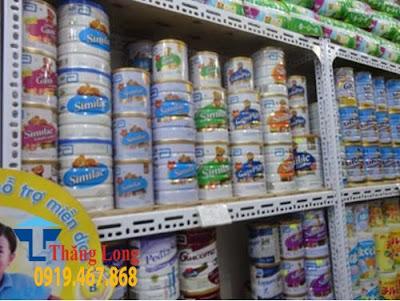 Giá kệ trưng bày sữa hộp 1