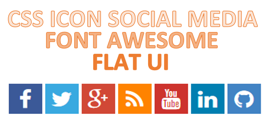 Cara Membuat Social Media Icon dengan Font Awesome