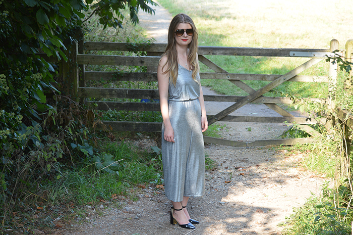 primark jumpsuit metallic bloggers