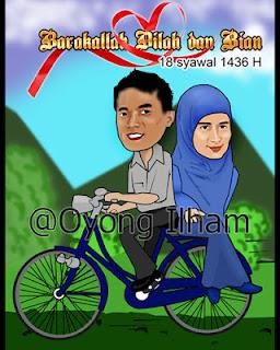 Karikatur Naik Sepeda
