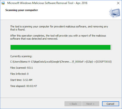 Microsoft Windows Malicious Software Removal Tool April 2016