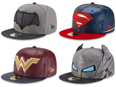 Batman v Superman: Dawn of Justice Character Armor 59Fifty Fitted Hat Collection by New Era - Batman, Superman, Wonder Woman & Armored Batman