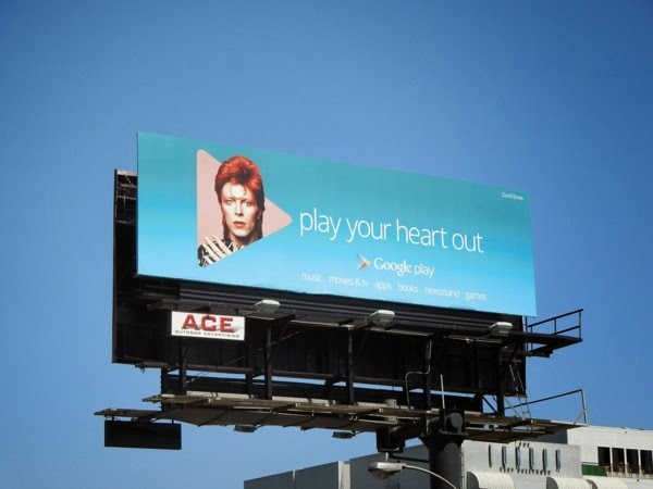 Google Play your heart out Bowie billboard