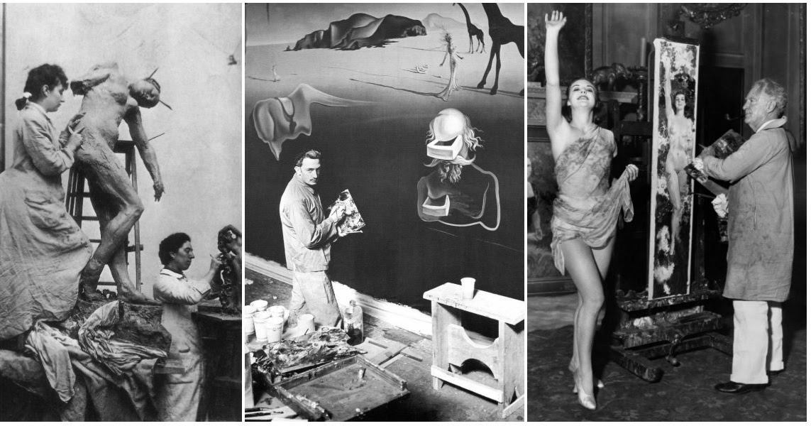 40 Amazing Behind the Scenes Photos of Famous Artists at Work in Their Studios