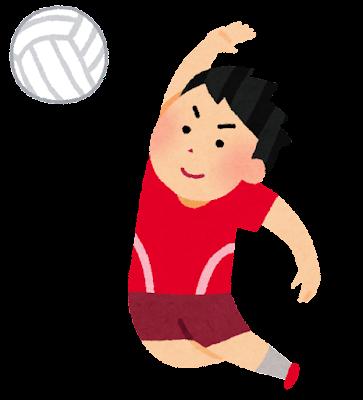 男子バレーボール選手のイラスト