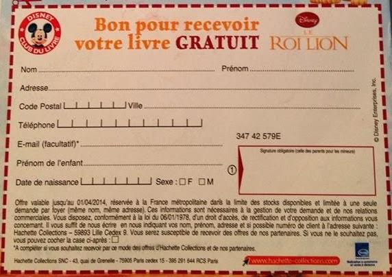 Miss Bons Plans Termine Livre Disney Le Roi Lion Gratuit