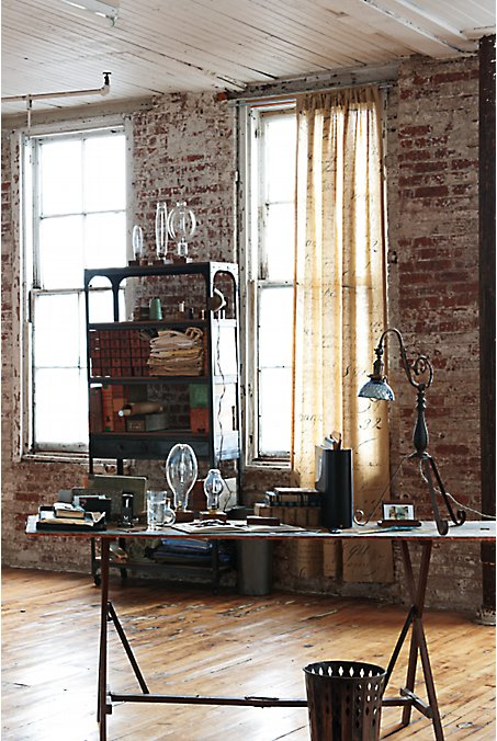 Industrial Study Room: Living The Anthropologie Way Of Life...: Vintage