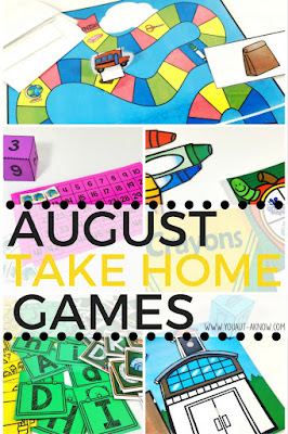 Make homework a thing of the past! August Take Home Games are a perfect homework replacement. This is how I'm quitting homework packs this year. Each week, students take home a different game to play with their families and generalize social skills.