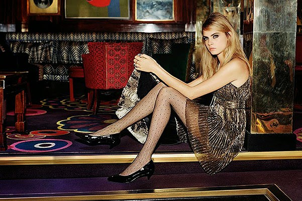 Cara Delevingne in Christmas advertising Topshop