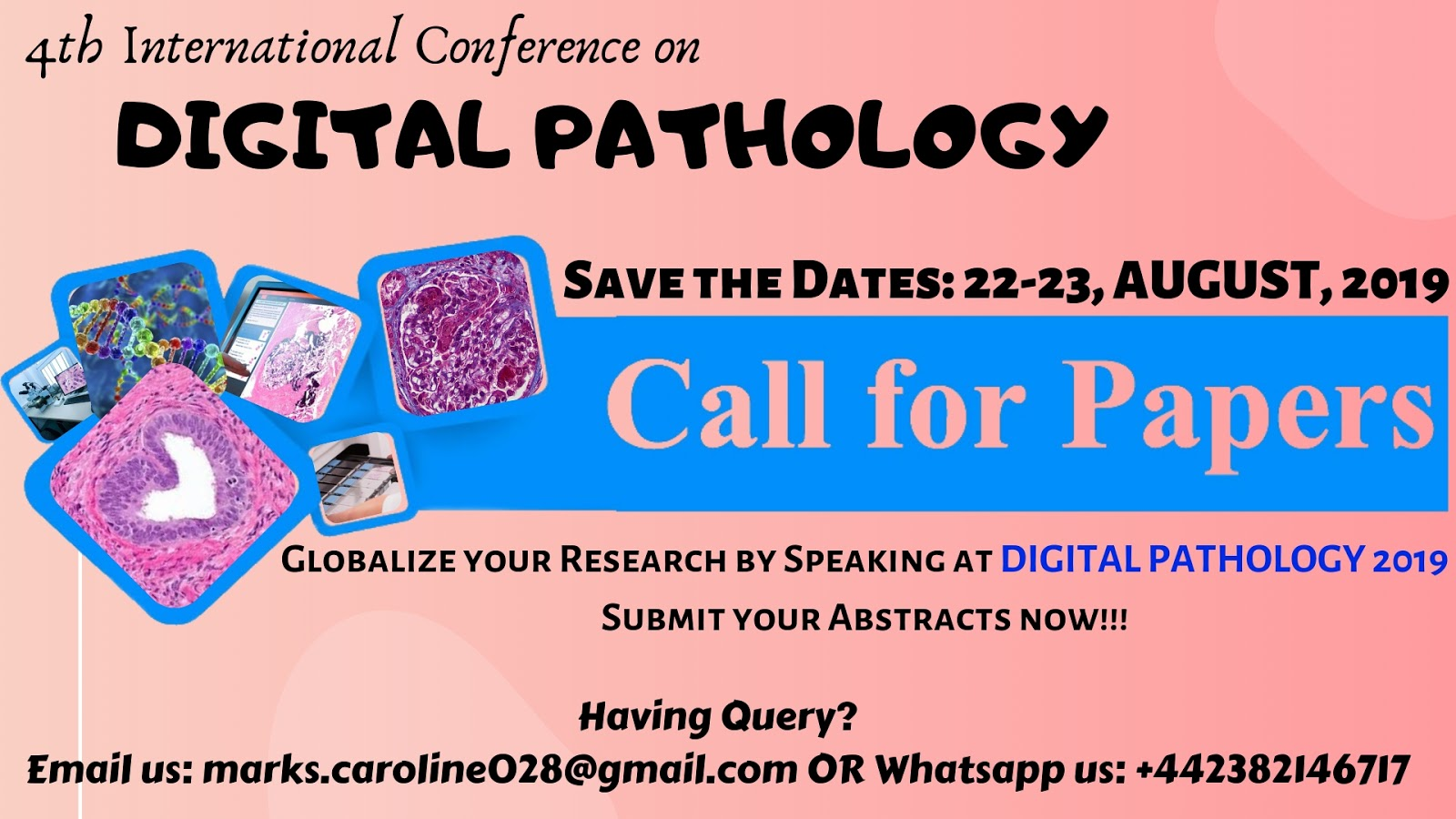 Digital Pathology 2019 | Submit Abstract | Research