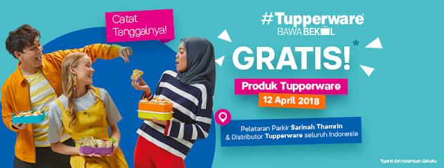 Gratis produk tupperware 12 april 2018 sarinah thamrin