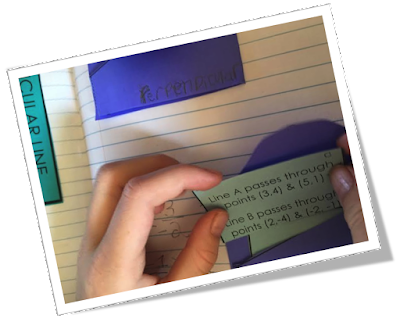 "Students practice their application of equations of parallel and perpendicular lines in this engaging, ready-to-use card sort activity.  ""My students loved it"" say buyers."