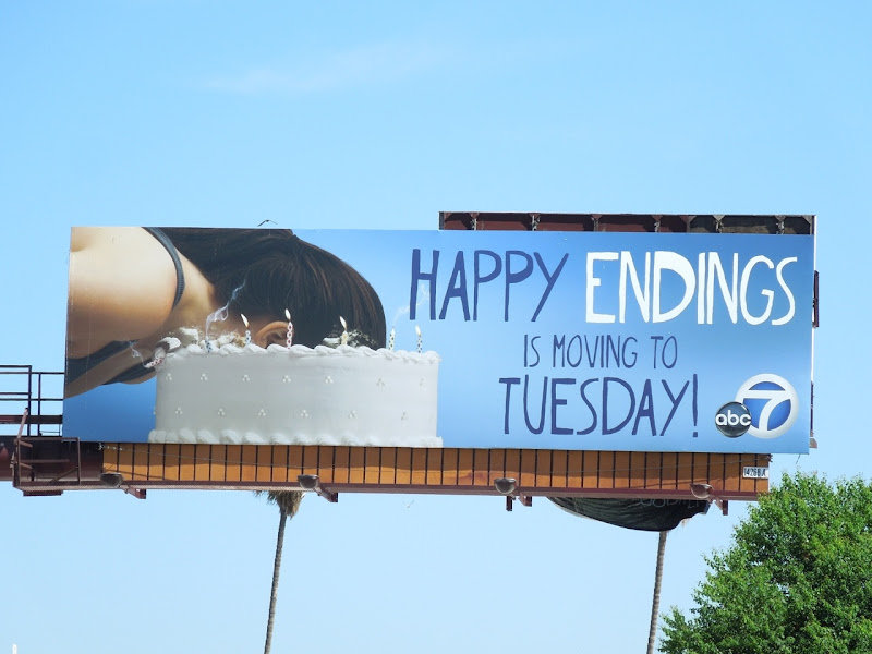 Happy Endings season 3 Tuesday billboard