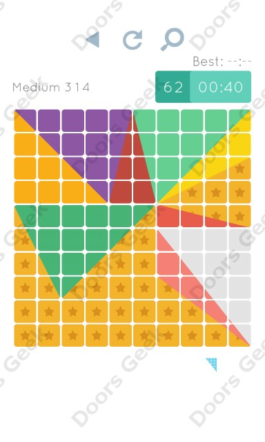 Cheats, Walkthrough for Blocks and Shapes Medium Level 314
