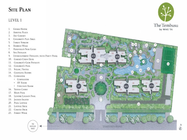 The Tembusu Site Plan