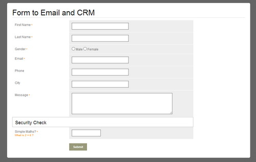 PHP Contact Form to Email and CRM