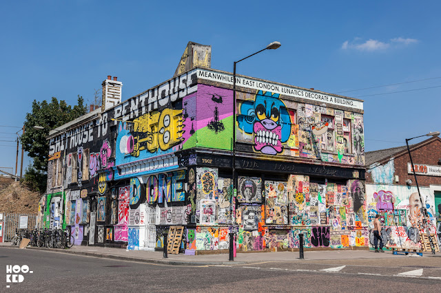 Lord Napier Pub with Street Art in Hackney Wick