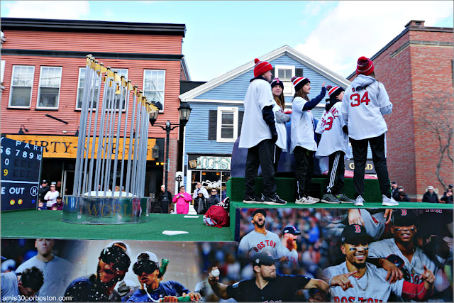 Boston Red Sox en el Desfile de Acción de Gracias de Plymouth